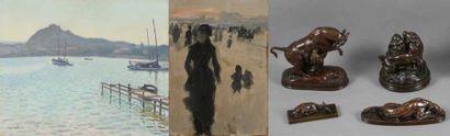 Collection Dieterle dont un exceptionnel ensemble de 28 bronzes de Barye et de 12 peintures et aquarelles de De Nittis