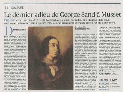 Le dernier adieu de George Sand à Musset