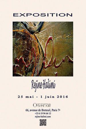 vernissage de l'exposition de Réjine Halimi