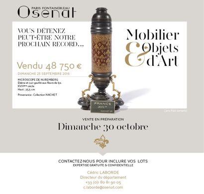 Vente en préparation : Mobilier & Objets d'art
