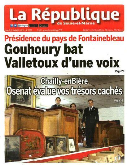 Les ventes courantes de Chailly-en-bière en couverture de la République de Seine-et-marne