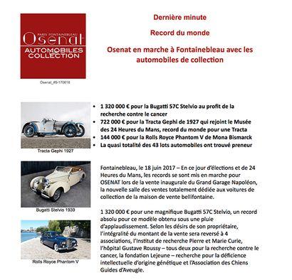 Record du monde - Automobiles de collection
