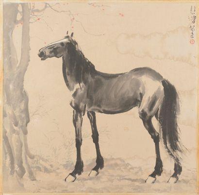 Une encre sur papier attribuée à XU BEIHONG (1895-1953) dans notre vente du 23.07