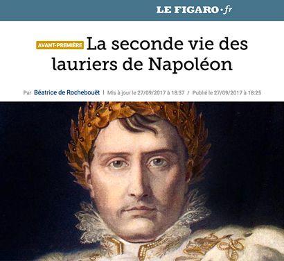 Le Figaro - La seconde vie des lauriers de Napoléon