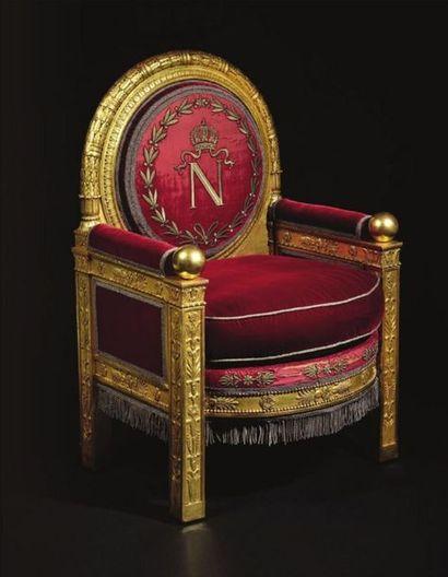 Le trône de Napoléon, vedette de la vente Empire à Fontainebleau