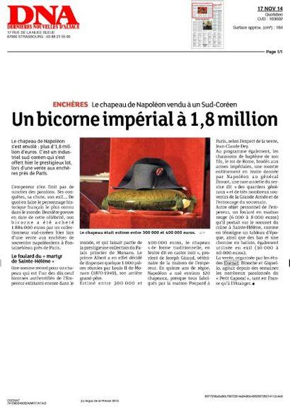 Un bicorne impérial à 1,8 million