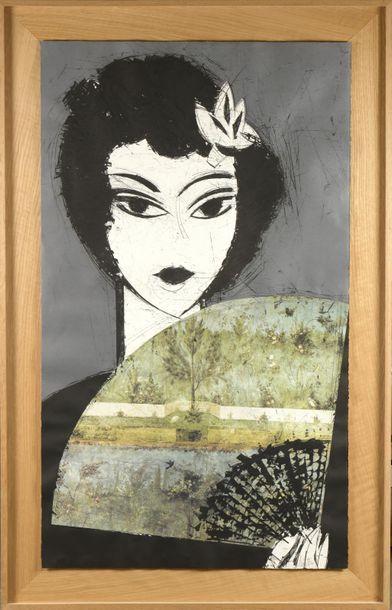 Une eau-forte de très grand format du peintre espagnol Manolo VALDÉS est en vente à Saint-Cloud dimanche 28 juin