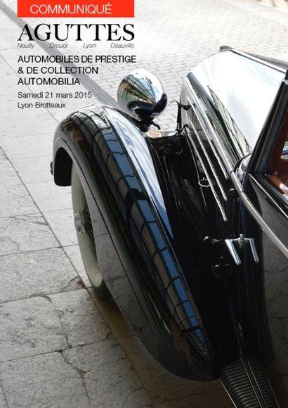 Vente Automobiles & Automobilia le 21 mars à Lyon-Brotteaux