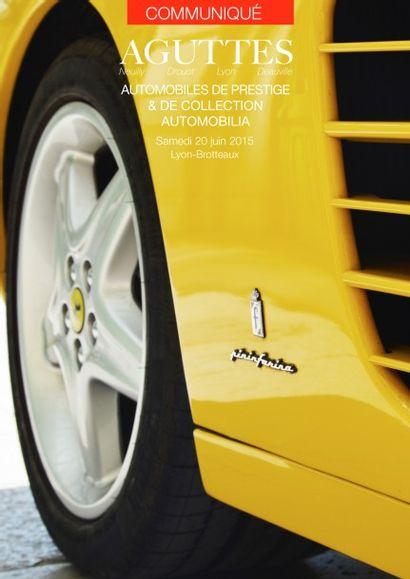 Vente Automobiles de prestige et de collection le 20 juin à Lyon-Brotteaux