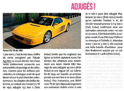 1 300 000 €, c'est le très beau chiffre de vente d'Automobiles de prestige et de collection