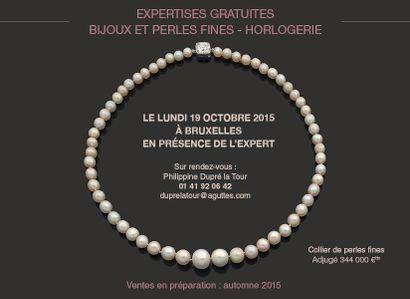 Expertises gratuites Bijoux & perles fines, Horlogerie