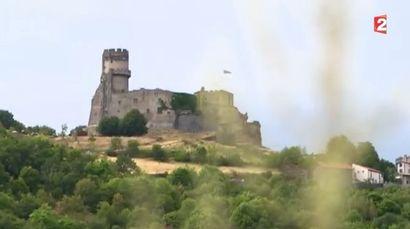 Le château de Tournoël à Volvic - Télématin