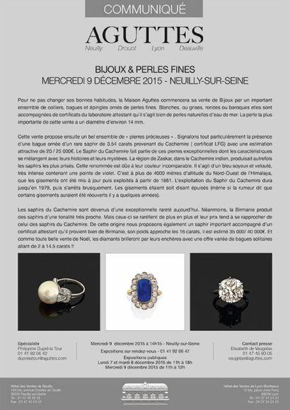 Bijoux & Perles Fines - 9/12/2015 - Neuilly-sur-Seine