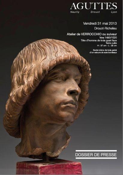 Un buste d'homme de l'atelier de Verrocchio ou suiveur