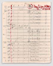 JEAN CONSTANTIN (1923-1997)  MANUSCRITS MUSICAUX...