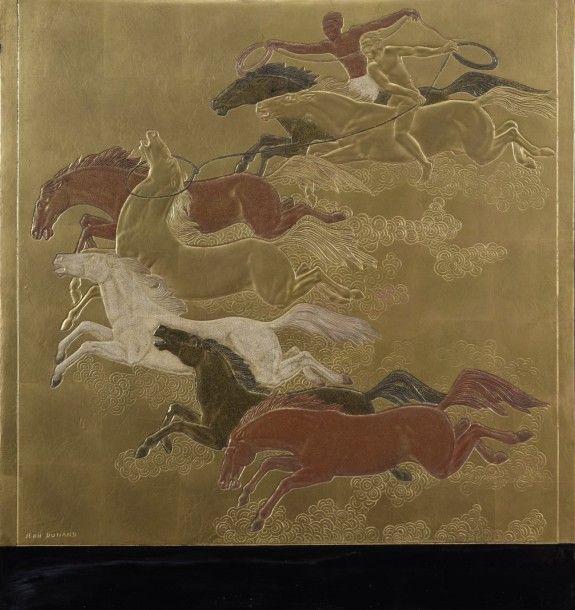 Jean DUNAND (1877-1942) La conquête du cheval...