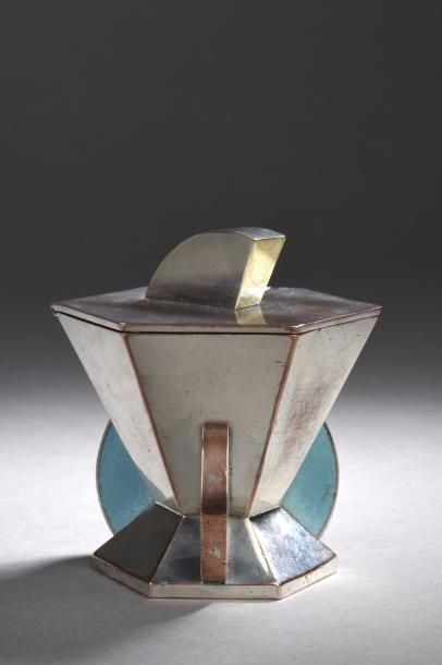 Jean GOULDEN (1878-1946)  Boite hexagonale...