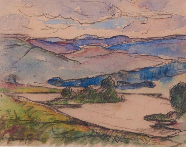 Maxime MAUFRA (1861-1918) . Le lac Killean,...