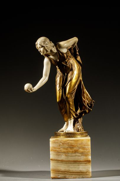 Walter SCHOTTE (1861-1936). La joueuse de...