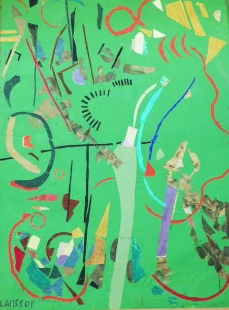 LANSKOY André (1902-1976) Grande composition...