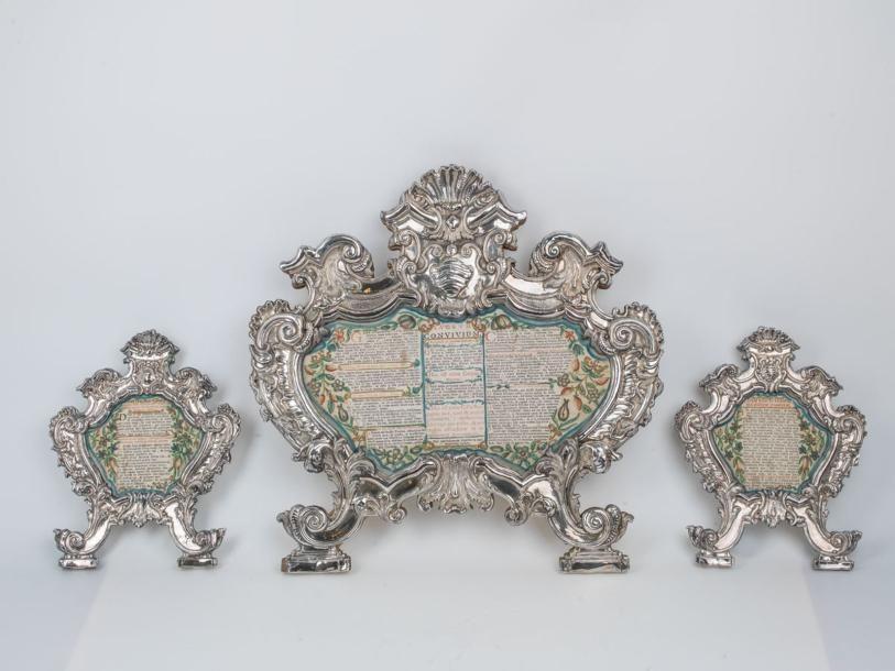 Canon d'autel en cuivre argenté (sur âme...