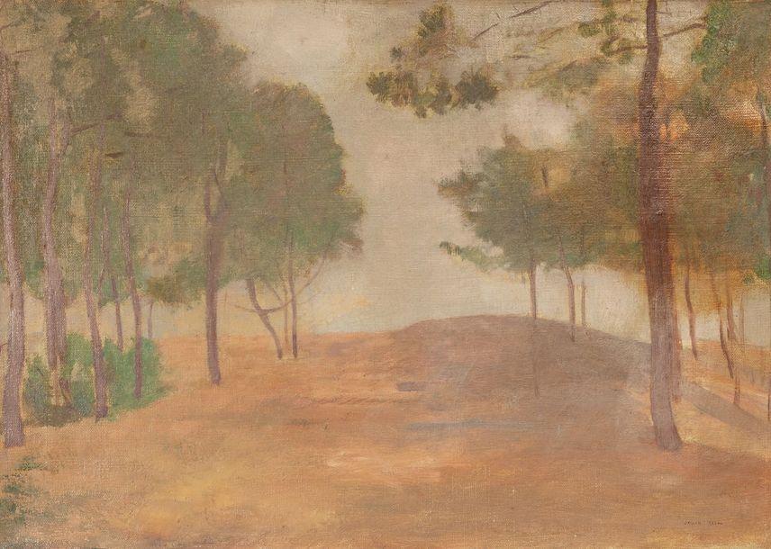 Odilon REDON (1840-1916), Sous-bois au printemps,...