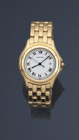 CARTIER, Bracelet montre