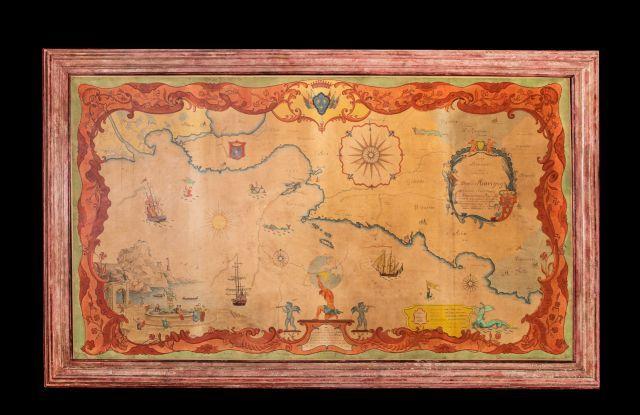 Grande carte de Provence aquarellée «dédiée...