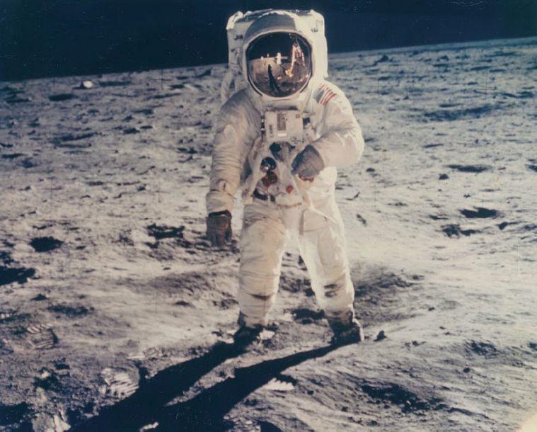 NASA. MISSION APOLLO XI. BUZZ ALDRIN SOUS...
