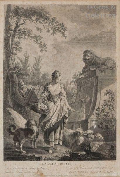 Jacques Beauvarlet et François Boucher, d'après...