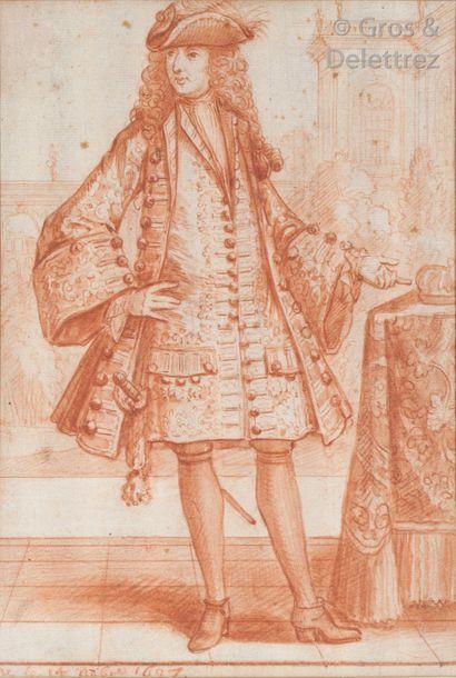 Robert BONNART (1652-1763) Quatre figures...