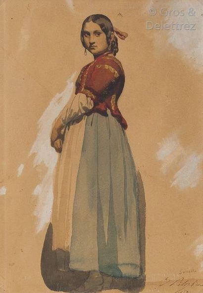 ISIDORE PILS (1813-1875) Jeune femme de Sorrente...