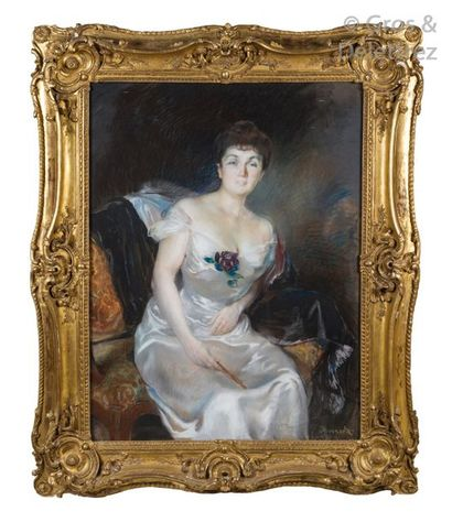 Albert BESNARD (1849-1934) Portrait de Cécile...