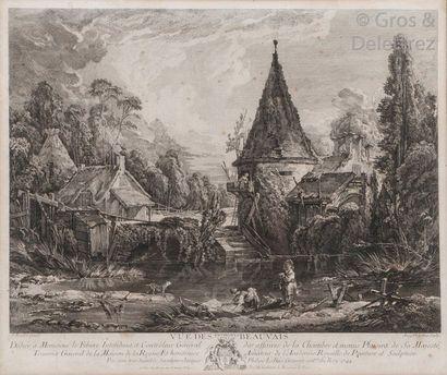 Jacques le Bas et François Boucher, d'après...