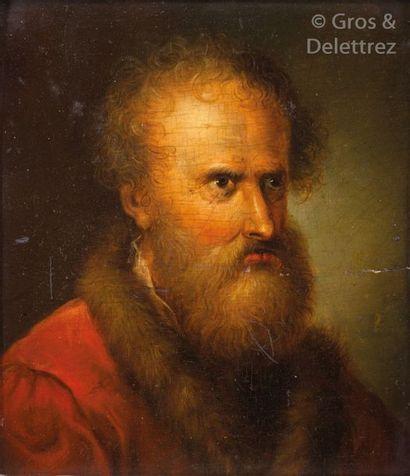 École Allemande vers 1800 Tête d'homme barbu...