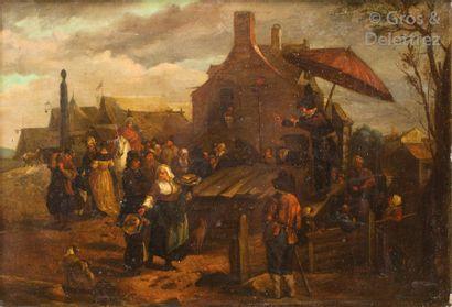 Dans le gout de Joseph Van Bredael Le charlatan...