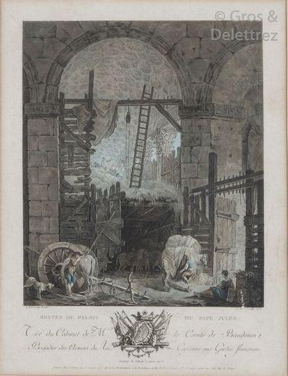 Jean-François Janinet et Hubert Robert, d'après...