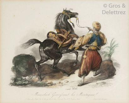Carle Vernet (1758-1836) Mameluck gravissant...