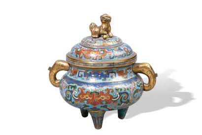 Chine, période Ming, début XVIIe siècle  Vase...