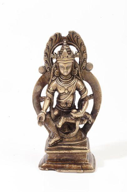 Inde, XVI-XVIIe siècle  Statuette en bronze...