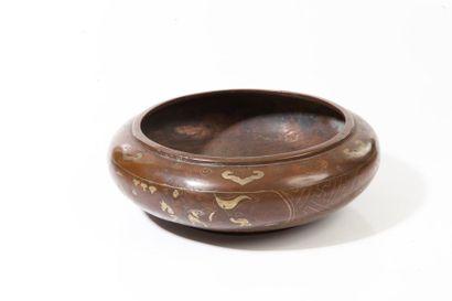 Chine du Sud, XIXe siècle  Coupe en bronze...