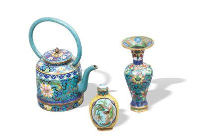 Chine, 2ème moitié du XIXe siècle  Lot de...
