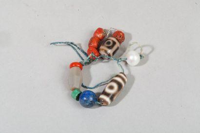 Chine, XXe siècle  Eléments de bracelets,...
