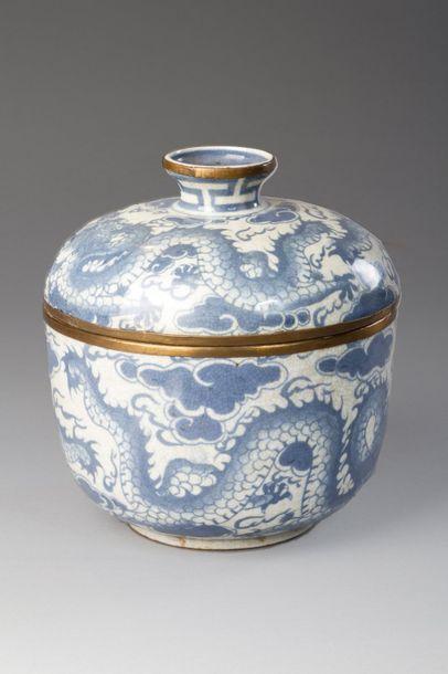 Vietnam, fin XIXe siècle  Pot couvert en...