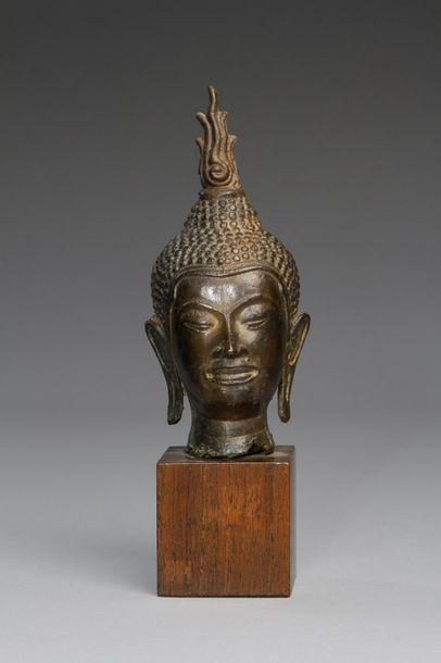 Thaïlande, style d'Utong, XXe siècle  Tête...