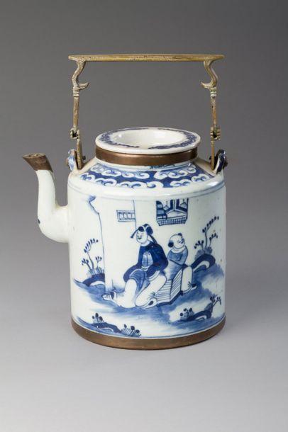 Chine, fin XIXe sie?cle  The?ie?re en porcelaine...