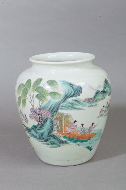 Chine, milieu XXe siècle  Vase pansu à petit...