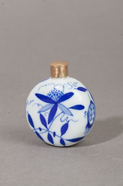 Flacon à parfum à panse ronde en porcelaine...
