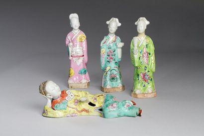 Chine, fin XVIII-XIXe siècle  Lot de quatre...