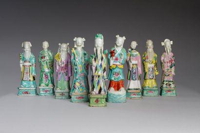Chine, période Jiaqing (1796 - 1820)  Lot...